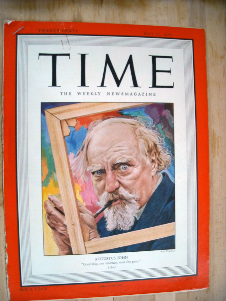 Alexander Eliot cover story on painter Augustus John, Time Magazine, May 1948